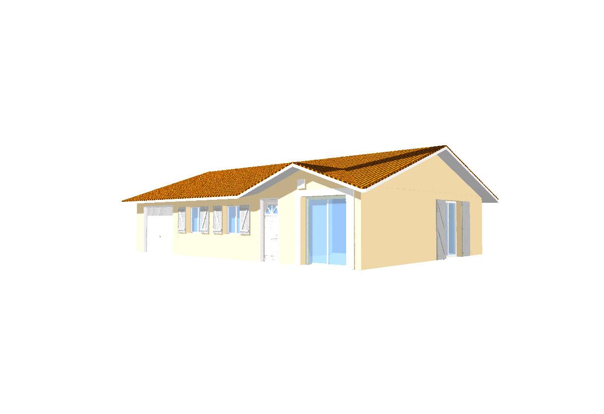 Vente maison cr mieu 38460 sur le partenaire for Simulation pret foncier
