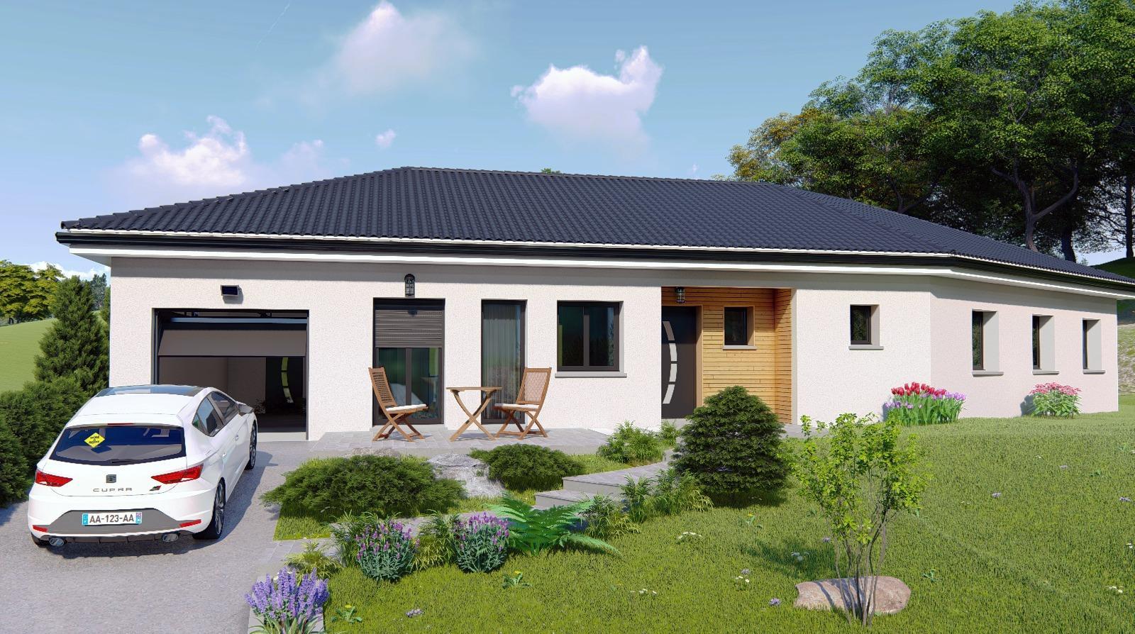 Vente maison yenne 73170 sur le partenaire for Simulation pret foncier